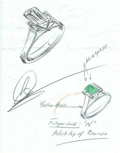 Drawn jewelry jewelry design Hand Robert design design Sketches