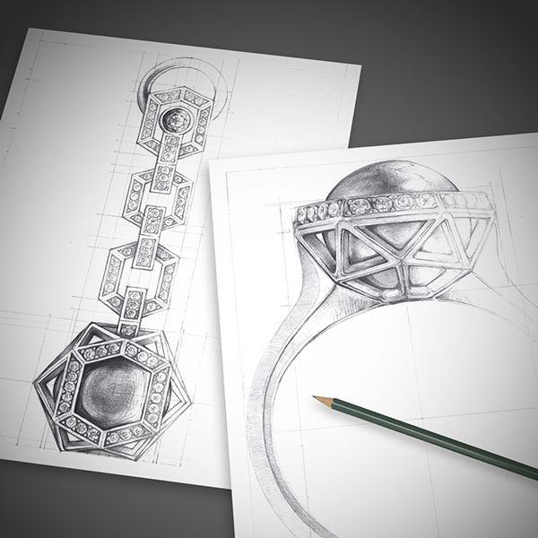 Drawn jewelry jewelry design Jewelry Sola images by Behance