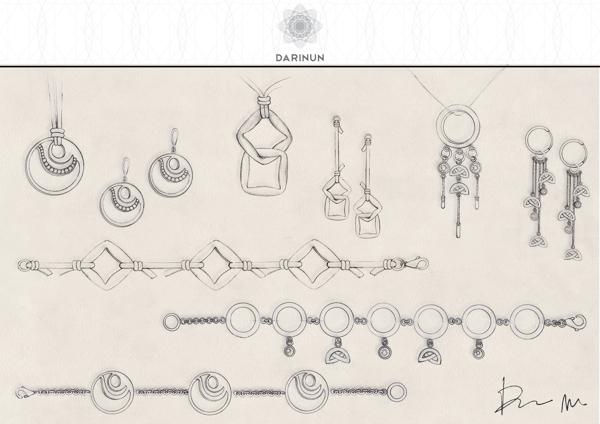 Drawn jewelry jewelry design  jewellery Jewellery on technical