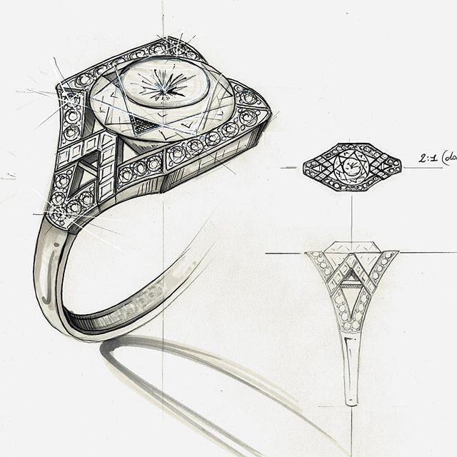 Drawn still life jewelry Drawing Best jewelry creation olgacorsini