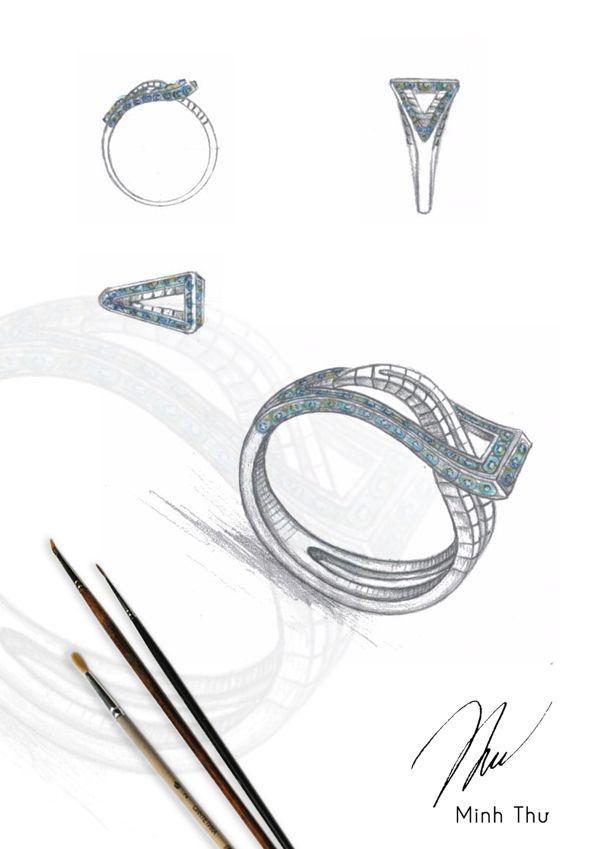 Drawn jewelry technical drawing Jewelry Jewelry best Portfolio illustration