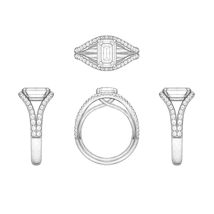 Drawn jewelry technical drawing Loves The IllustrationJewelry #bespoke on