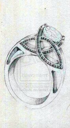 Drawn jewelry technical drawing Celtic Sketches #sketch  Pinterest