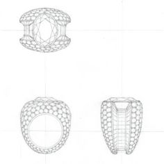 Drawn jewelry technical drawing Drawing water pencil WOOAKIM WOOAKIM