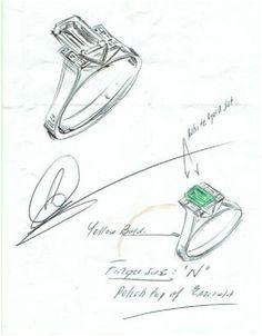 Drawn jewelry technical drawing Drawn Pinterest Jewellery Pin Rendering