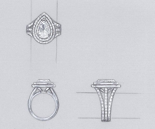 Drawn jewelry technical drawing Drawing on 25+ Pinterest The