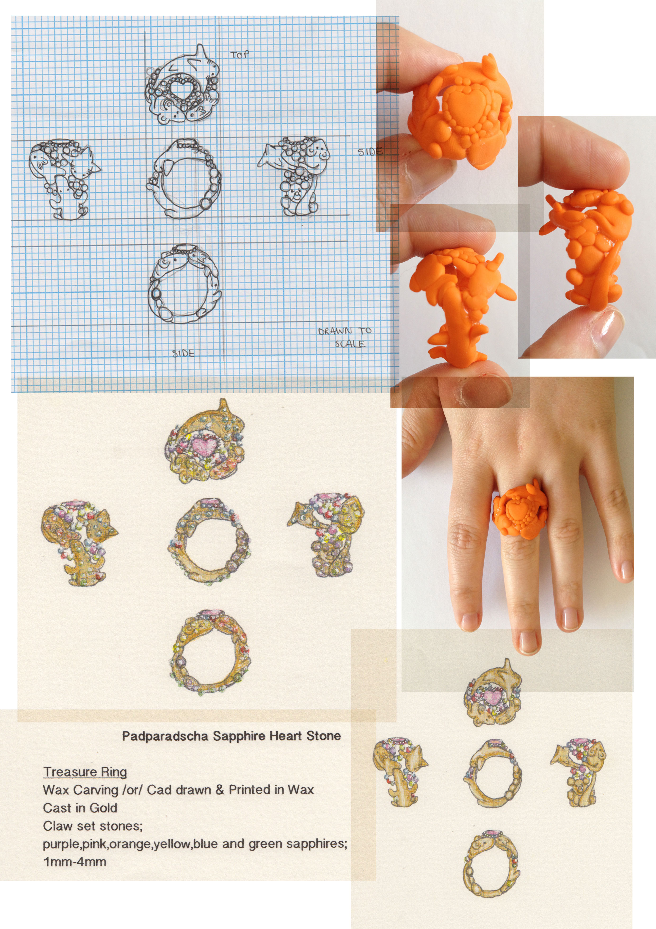 Drawn jewelry technical drawing Drawing Saint for  Design