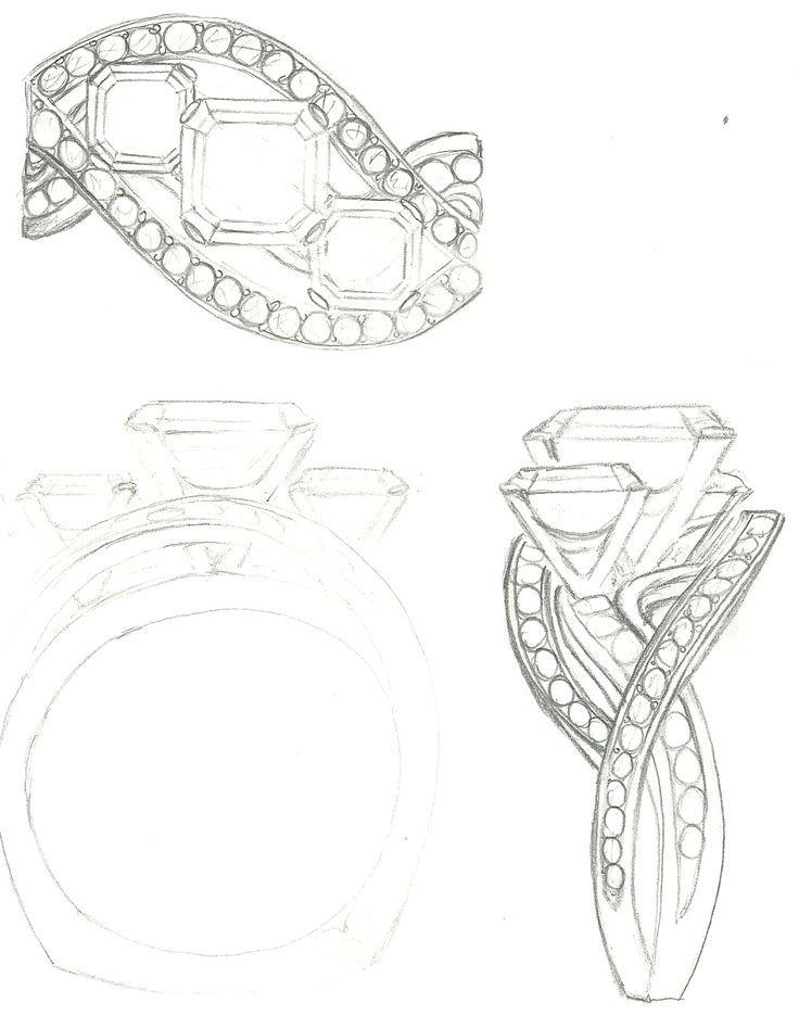 Drawn jewelry wedding ring DrawingJewellery diamonds images 3 ring