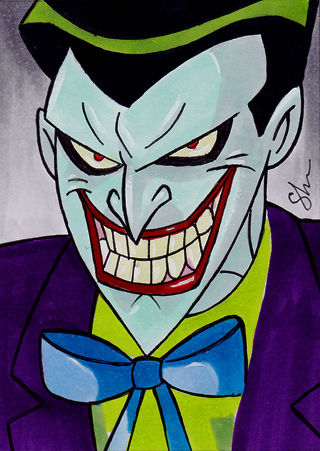 Drawn joker In drawn joker batman:the animated