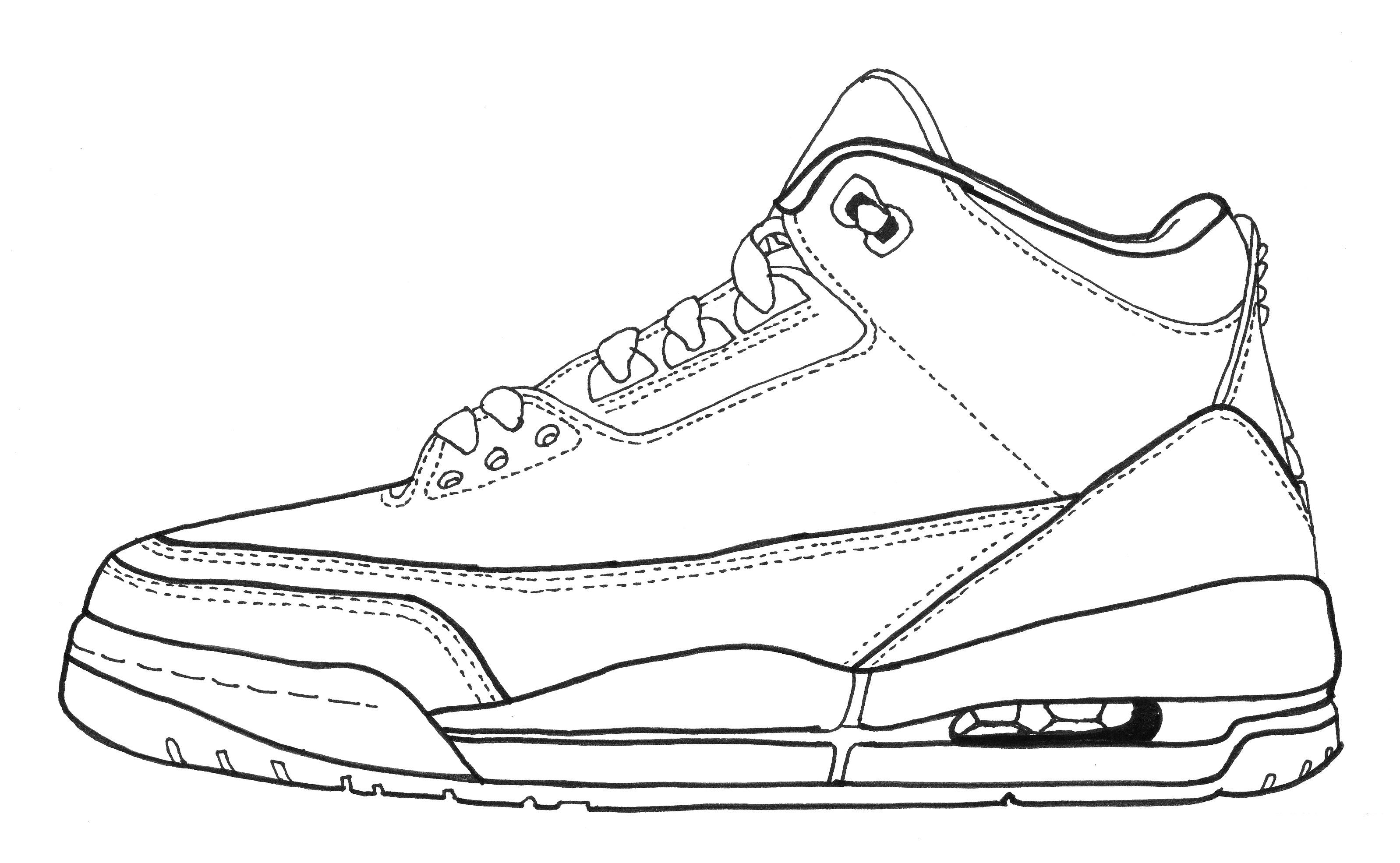 Drawn sneakers jordan 3 Jordan Footwear III Michael Zaleta