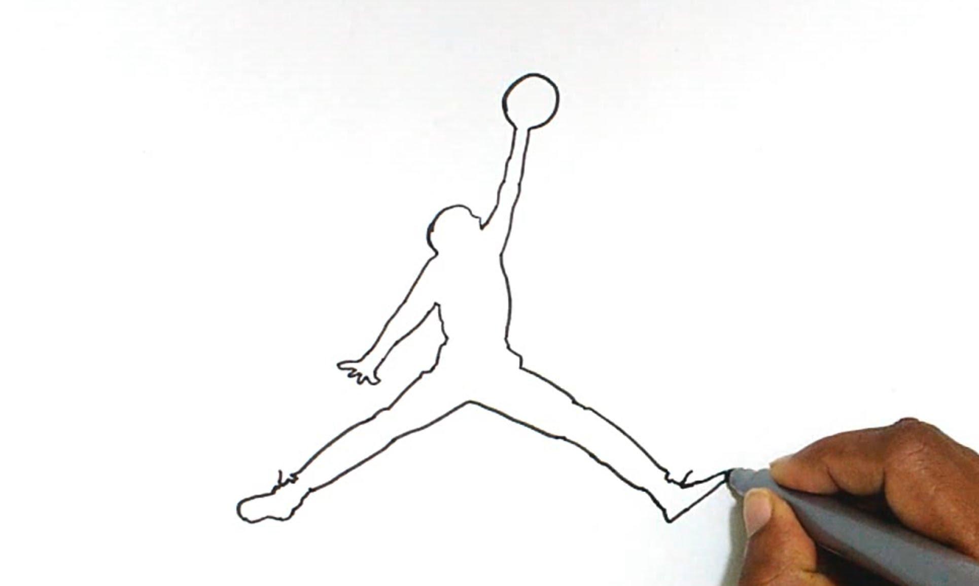 Drawn pice jordan To How Jordan How Logo