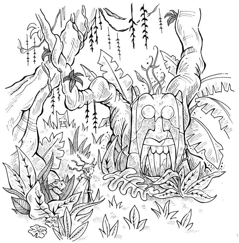 Drawn jungle Bit I inspired my so