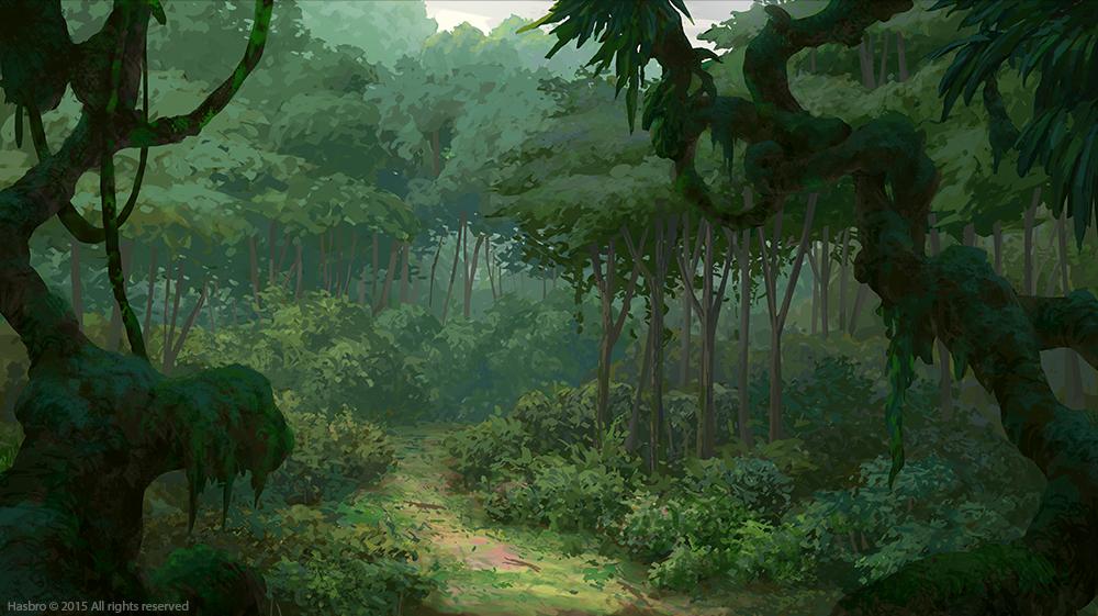 Drawn jungle David  Merritt Painting BG