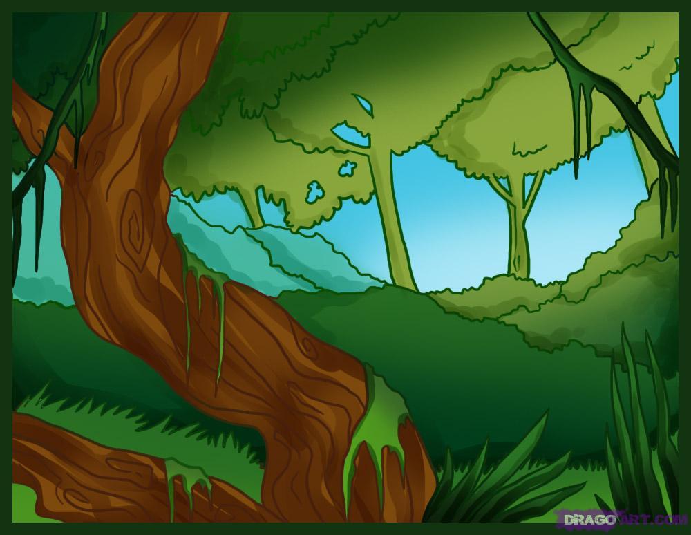 Drawn jungle Jungle a Draw Step how