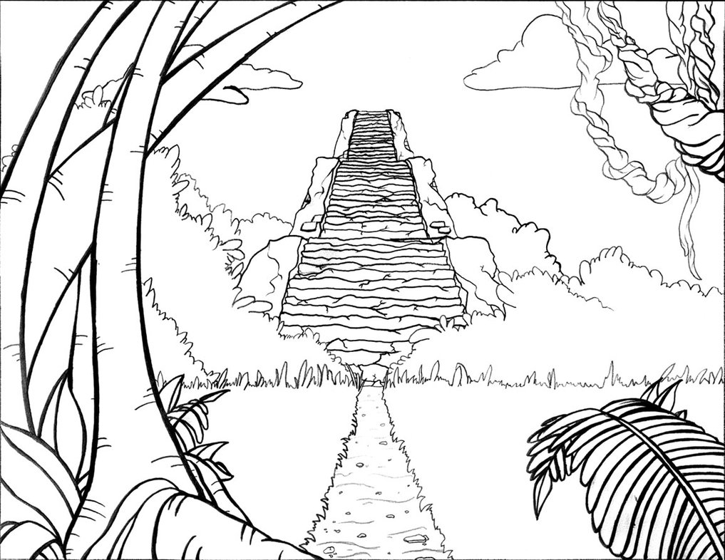 Drawn jungle On Drawing Background Drawing Jungle