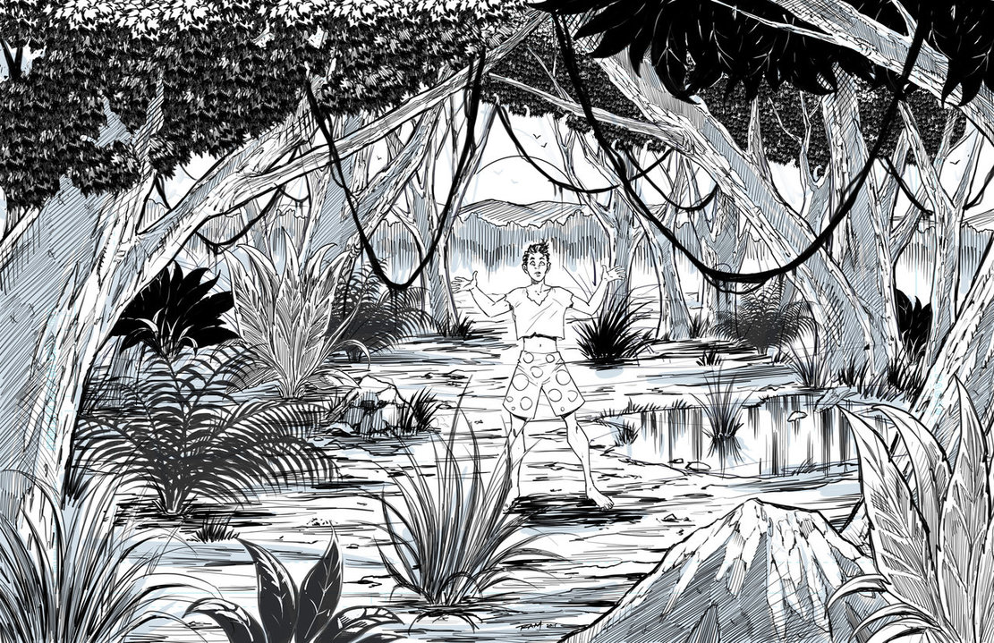 Drawn jungle How By Pages Landscape Coloring
