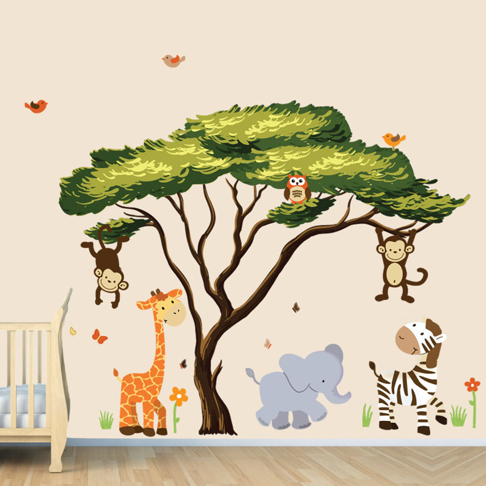 Drawn jungle africa African Wall Animals this Stickers