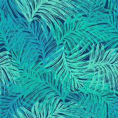 Drawn jungle border Jungle pattern seamless leaves illustrations