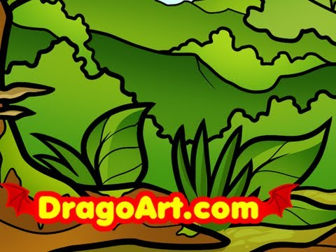 Drawn rainforest easy A How by Jungle For