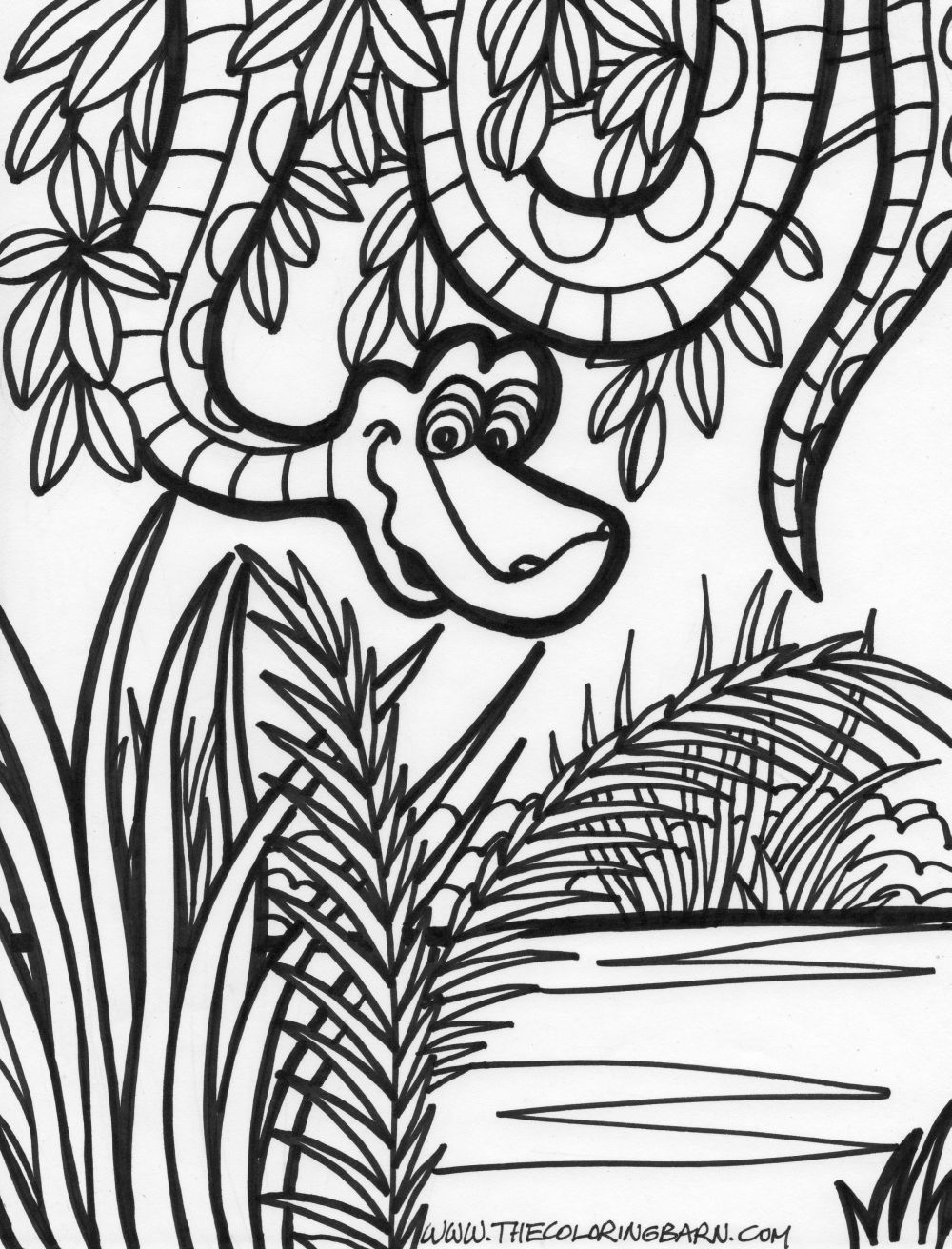 Drawn rainforest jungle scenery Jungle jungle pages pages coloring