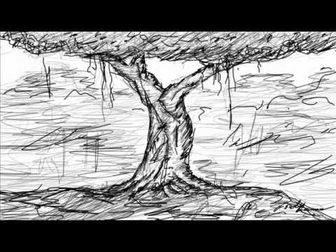 Drawn rainforest jungle scenery Tree Photoshop in A YouTube