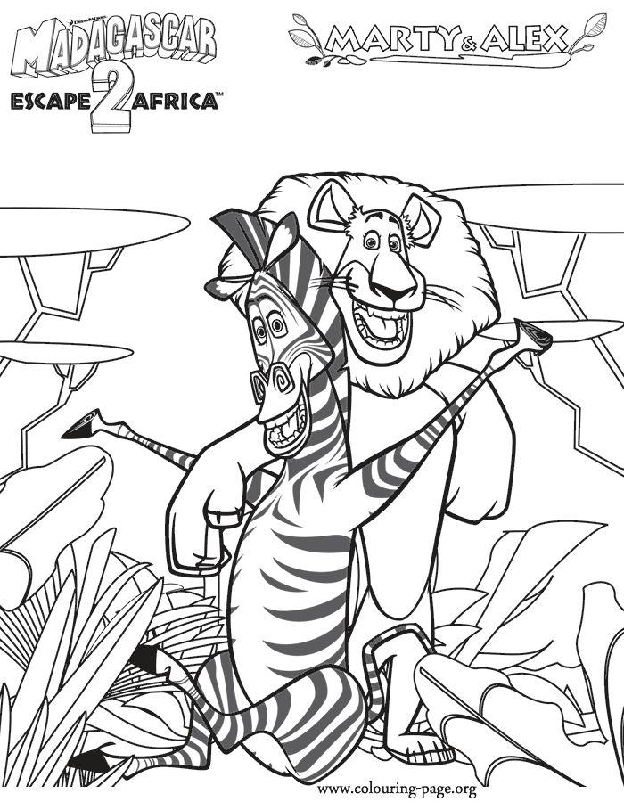 Drawn jungle madagascar Best and Alex page Pinterest