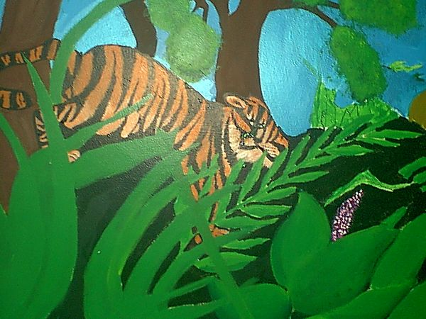 Drawn rainforest painting Ideas Click in detail Art