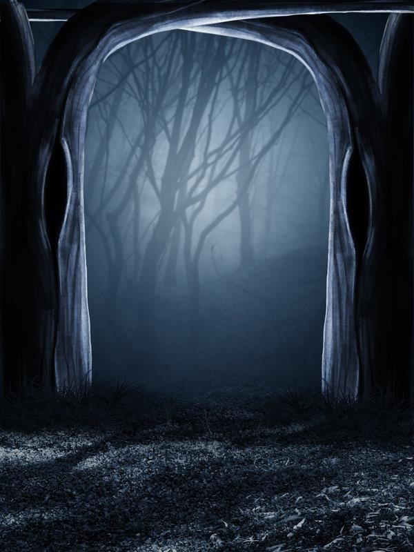 Drawn jungle spooky Gothic Backgrounds for Forest Photoshop