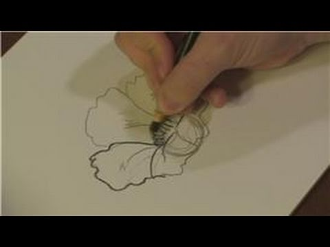 Drawn rainforest painting : Tropical : Draw Plants