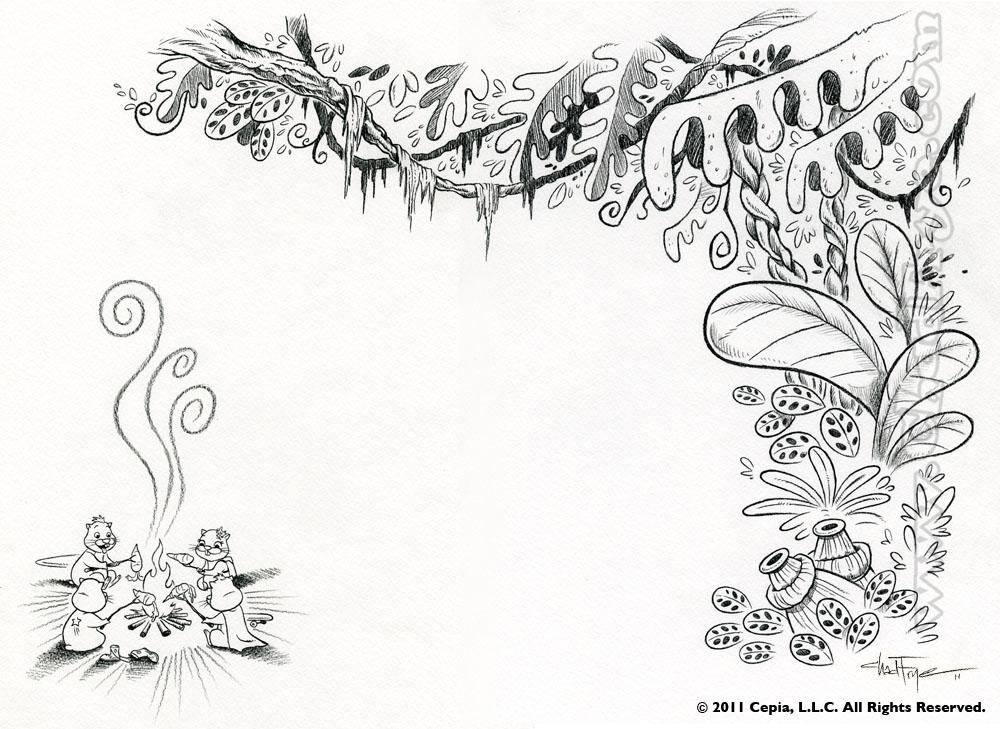 Drawn plant jungle vine Draw vi1000 jungle Plant Drawing