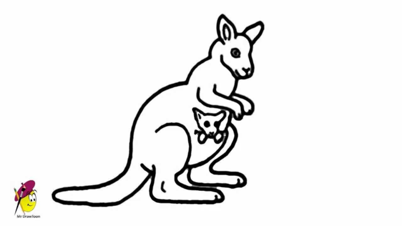 Drawn kangaroo Kangaroo a Drawing Easy