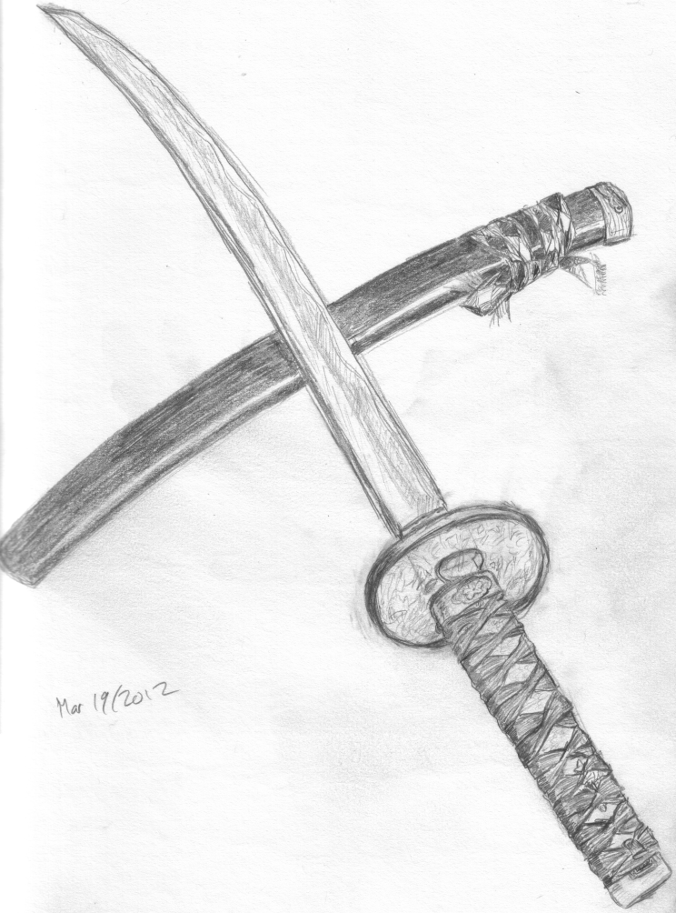 Drawn katana Samurai katana drawing Sword Masteri