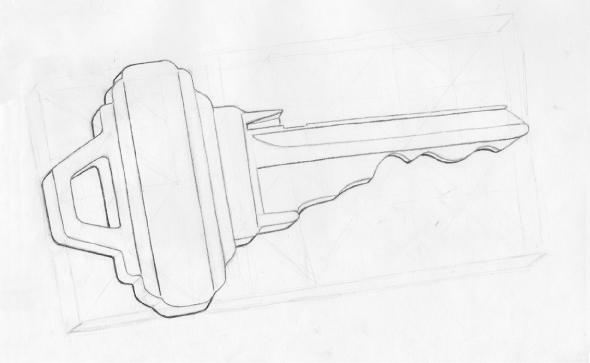Drawn key Drawn Keys TWiseDesign Hand Key