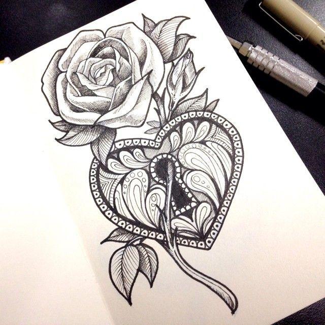 Drawn hearts lock Key Locket Tattoos Best Tattoo