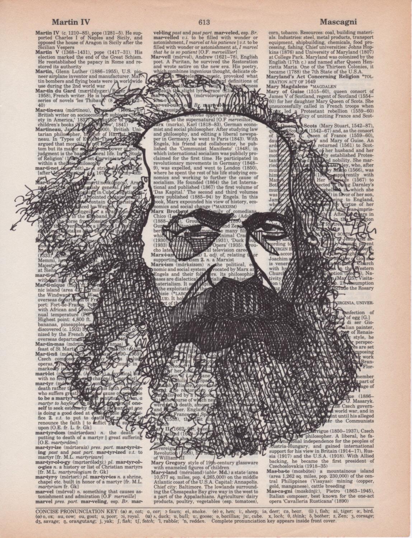 Drawn key Karl Marx page drawn Marx