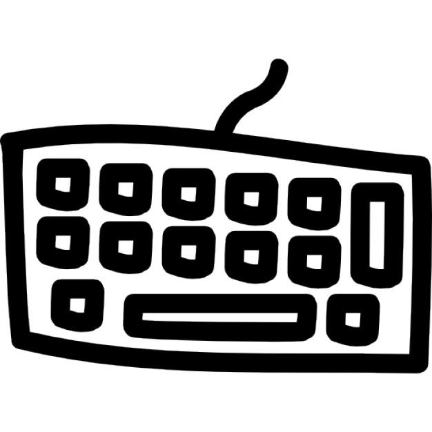 Drawn keyboard outline Hand irregular hand Download shape