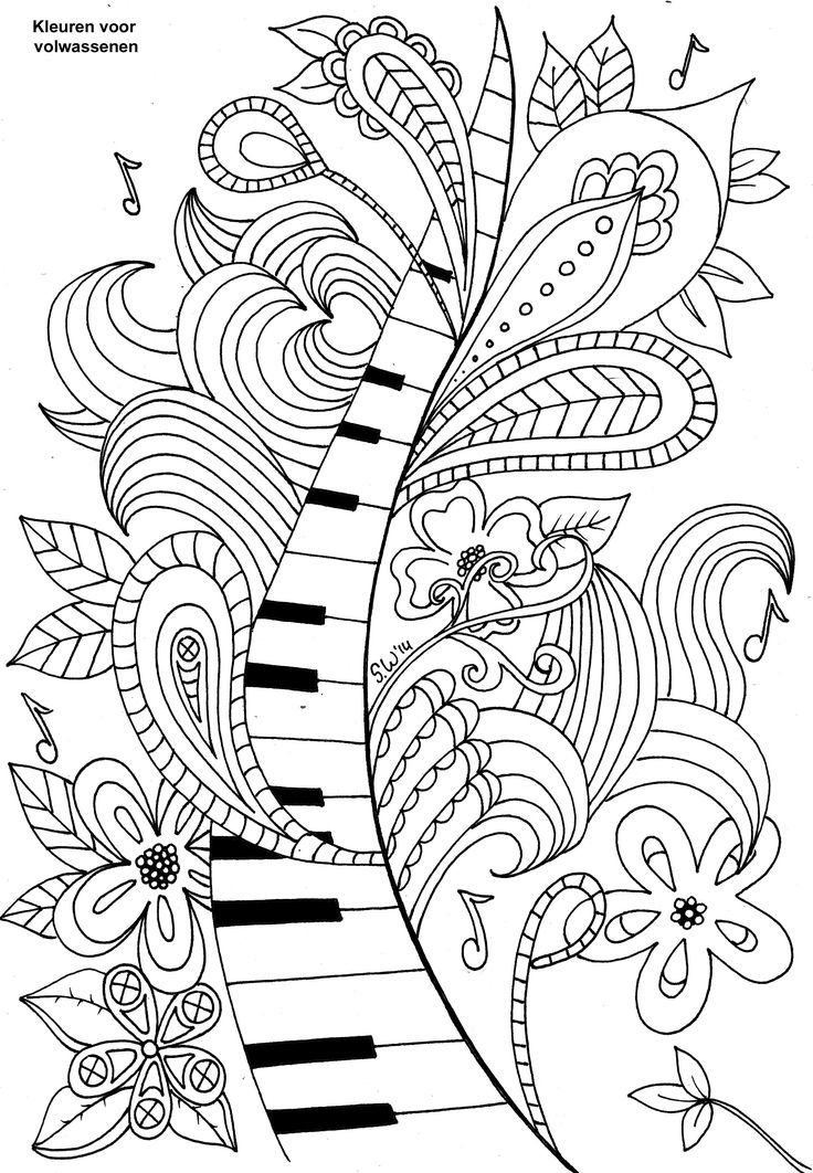Drawn keyboard coloring Pinterest images best adults 1749