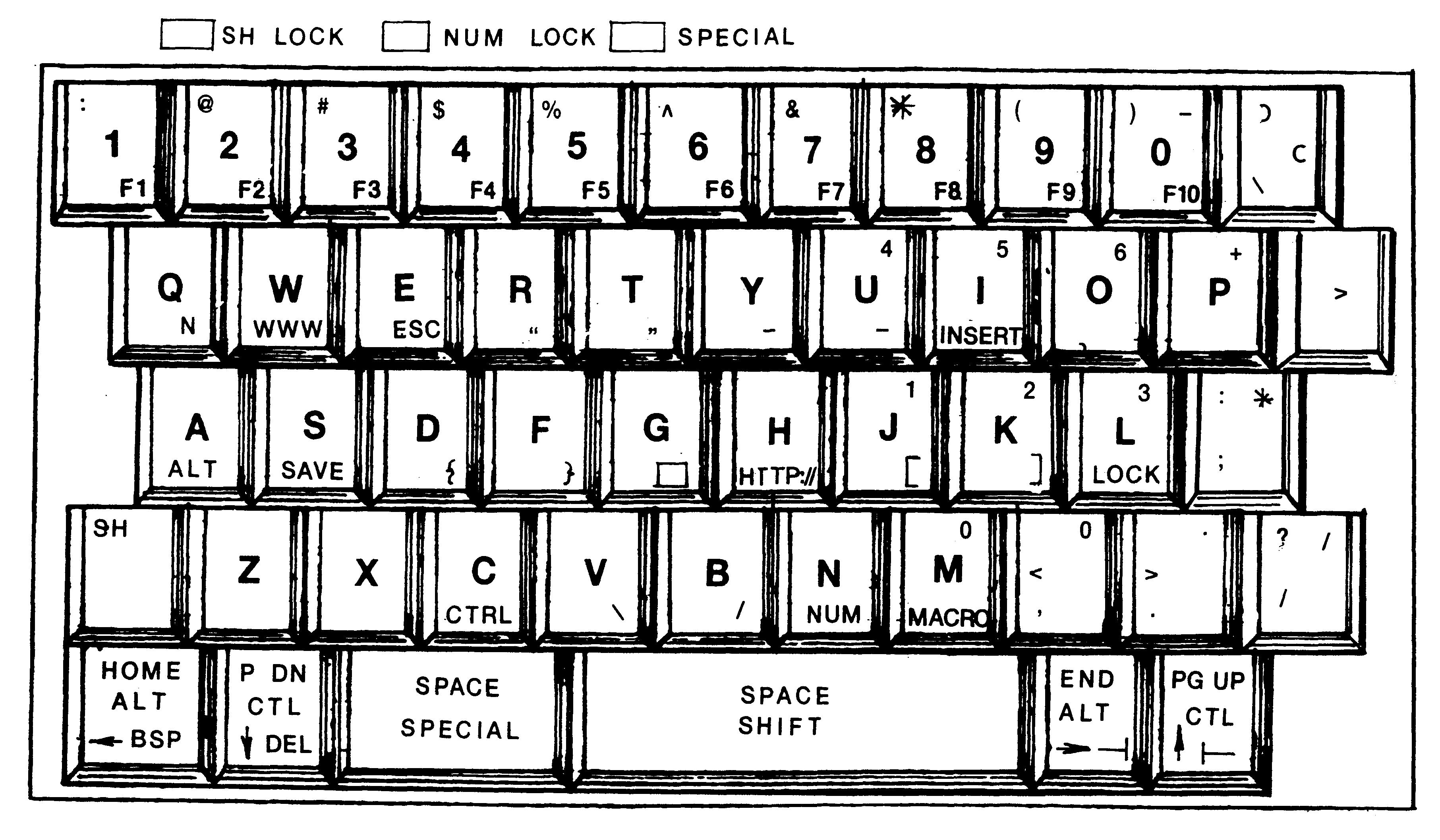Drawn typewriter Full Drawing Patent sized US6198474