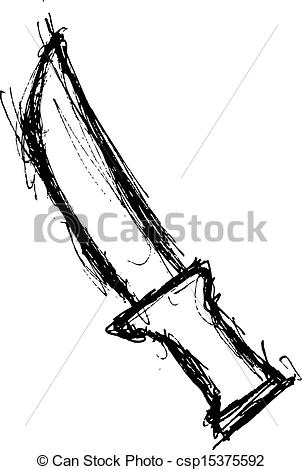 Drawn khife Hand knife white  knife
