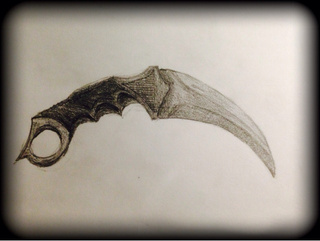Drawn khife Counter : karambit on #csgo