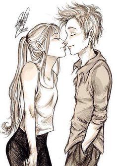 Drawn kiss cartoon Sketches Love KissKiss · Boy