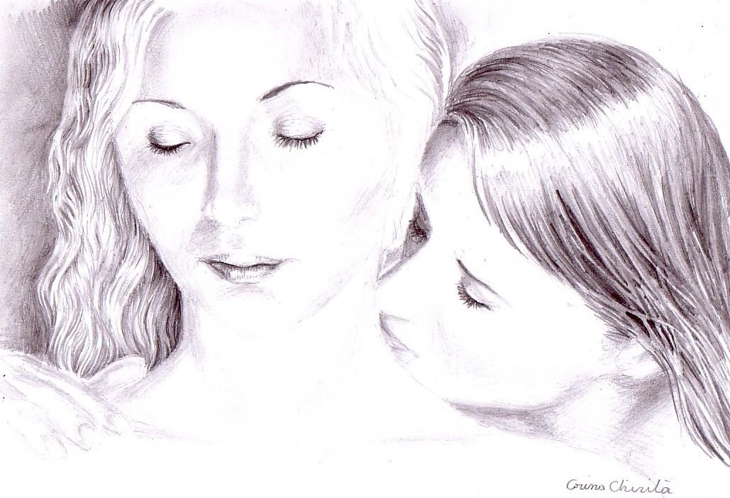 Drawn kiss sensual A on kiss neck her