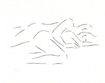 Drawn kisses And Kissing drawing Minimalist art