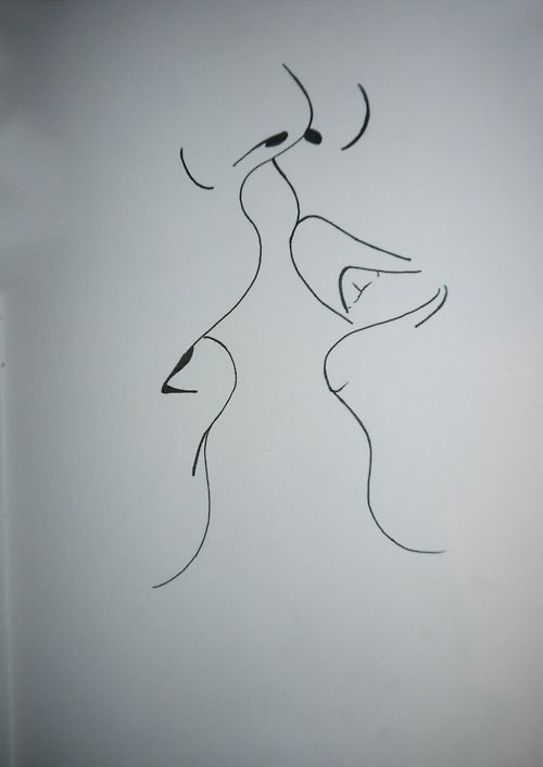 Drawn kisses Drawing Simple on ideas Best