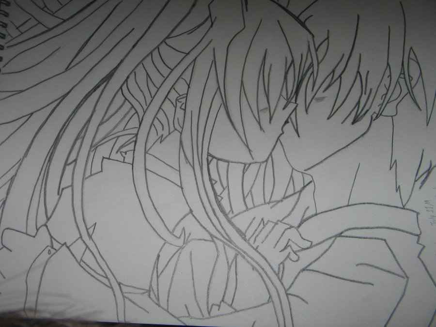Drawn kisses anime draw Drawing on Anime Drawing Kiss
