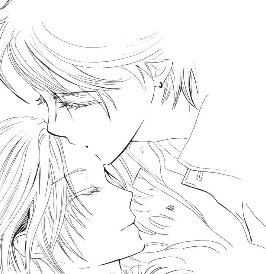 Drawn kisses anime draw Tutorial Coloring Tutorial Full By