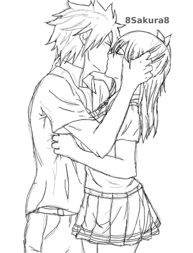Drawn kisses anime draw By Download  Anime Image