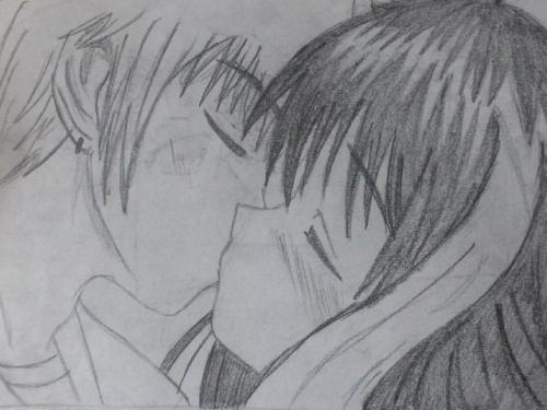 Drawn kisses anime draw Drawing 12 Drawing © Friesianlover082