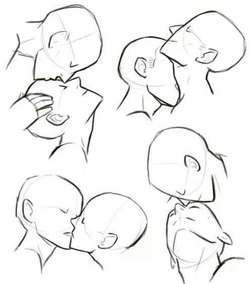 Drawn kisses cheek drawing Best image ideas Kissing on