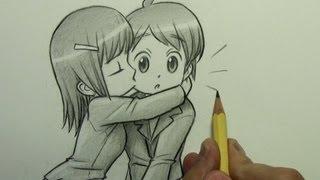 Drawn kisses chibi Kiss 00:00 to the a
